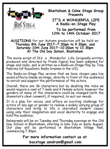 It's a Wonderful Life - Auditions Advert
