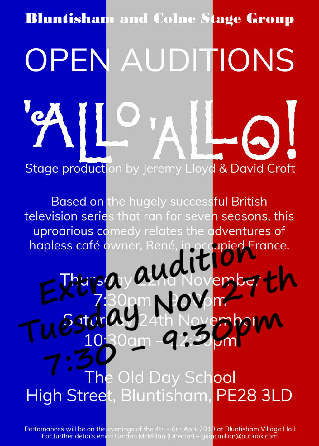 'Allo 'Allo Audition Poster