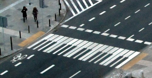 Piano crossing in Warsaw, Poland