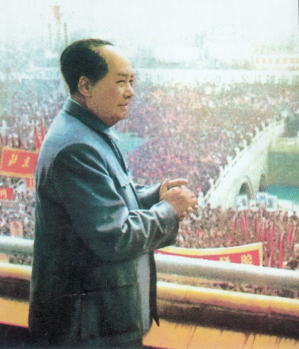 Mao in front of a crowd