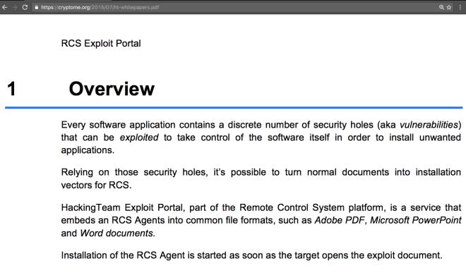 RCS Exploit Portal