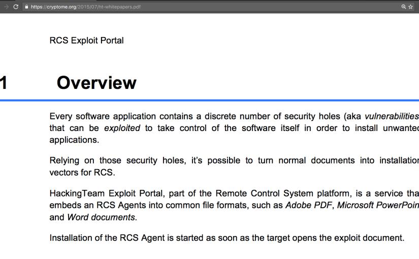 """Hacking Team RCS กับการดู """"ข้อมูลเข้ารหัส"""" โดยไม่ต้องถอดรหัส"""