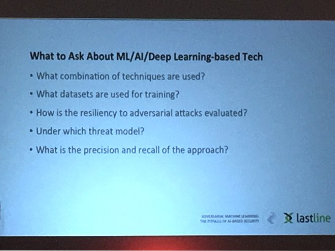 What to ask about AI/ML/Deep Learning-based technology