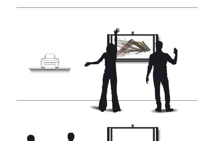 Croqui de interação da obra Desenho Aleatório, 2011. Arte de Zimaldo Bactéria.