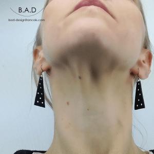 Boucles d'oreilles 18-02 élégantes en cuir