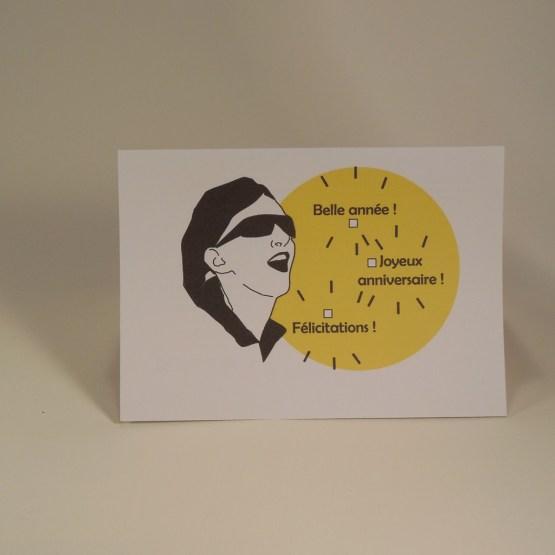 carte postale avec citations d'auteurs