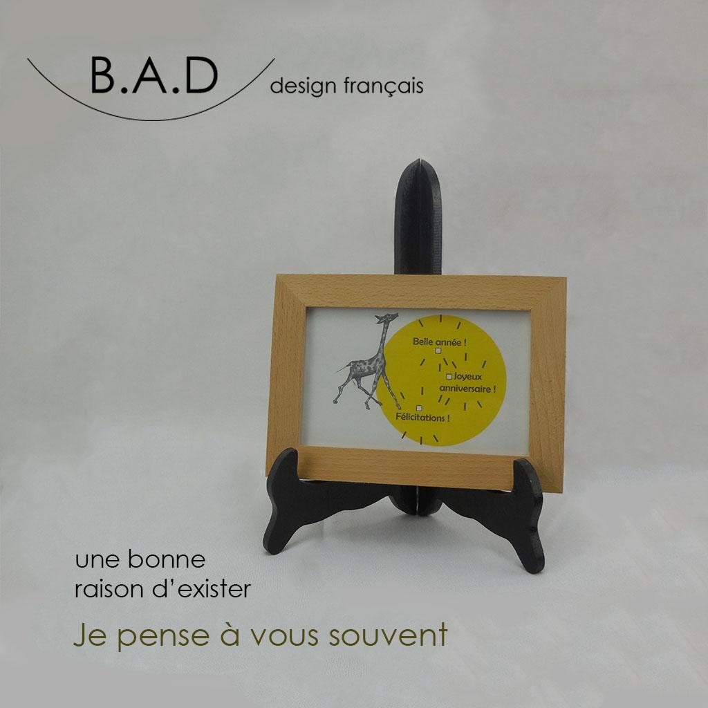 carte postale avec citations d'auteurs, texte original à personnaliser - b.a.d