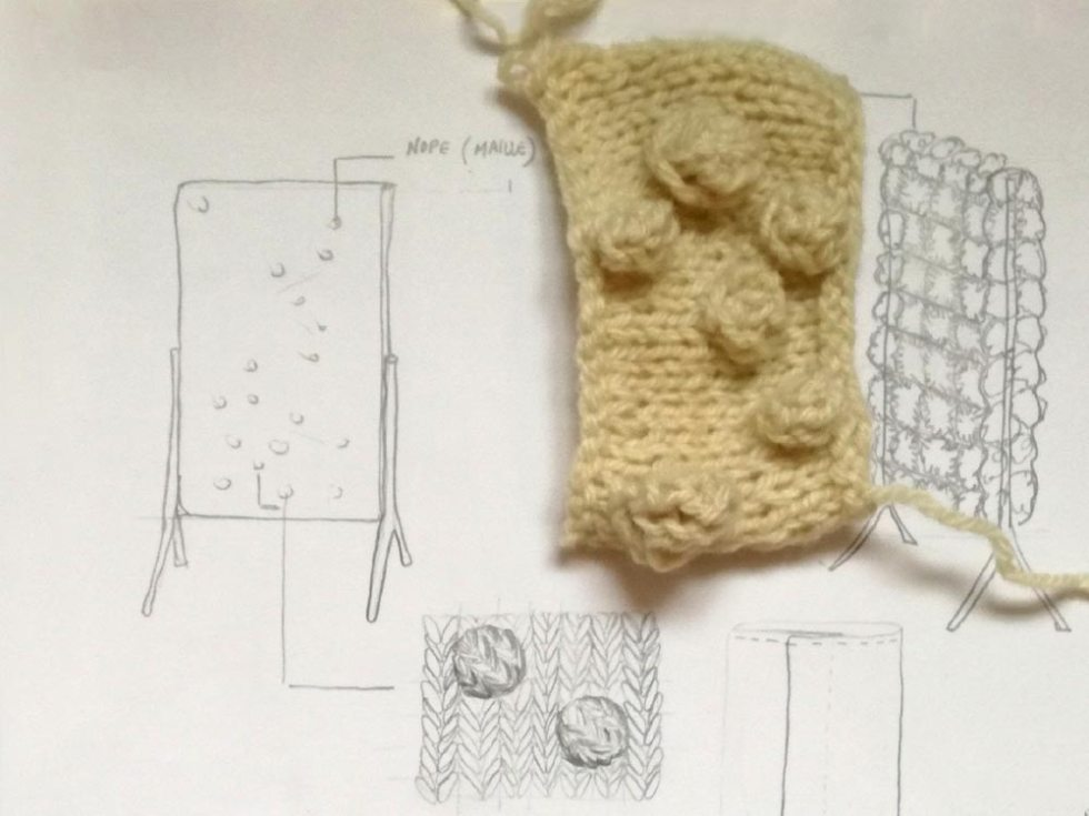 Echantillon textile pour illustrer le concept