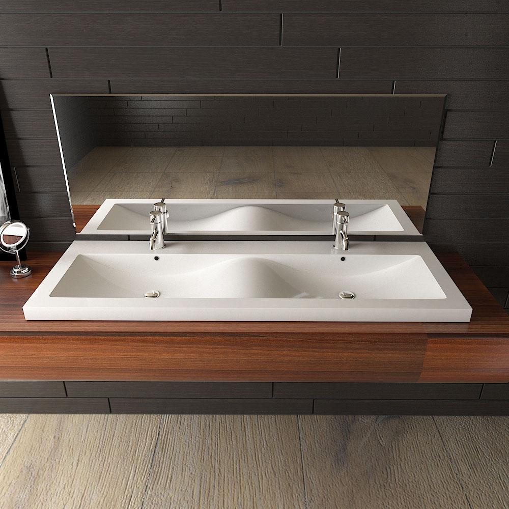 Doppel-Waschbecken-Badezimmer