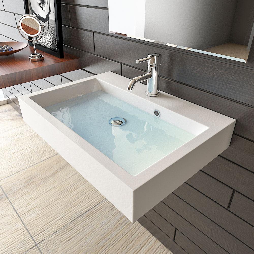 Waschbecken-Badezimmer-quadratisch