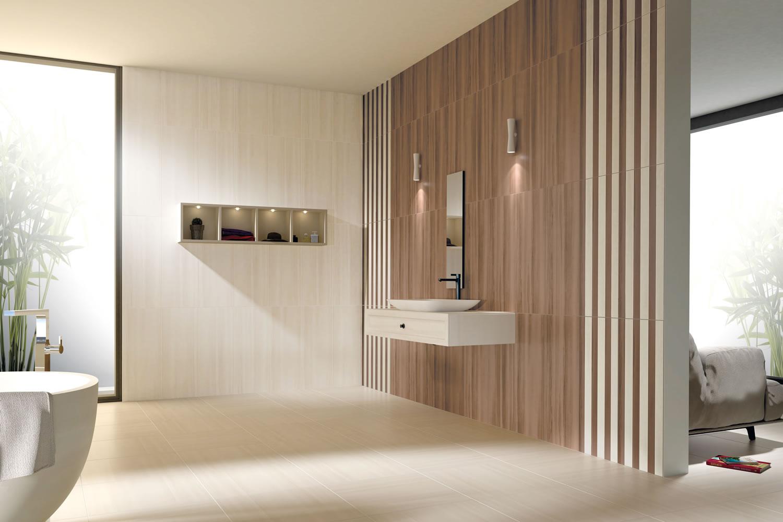 Boden-und-wandfliesen-im-Badezimmer-Modern-Waschbecken