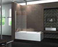 Duschwand aus Glas fr: Badewanne - Dusche - Walk in Dusche