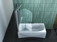 Badewannenfaltwand - Spritzschutz aus Glas oder Kunststoff