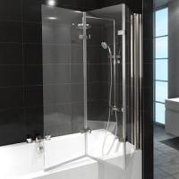 Badewannenfaltwand  Spritzschutz aus Glas oder Kunststoff...!