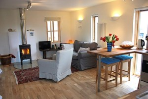 The Main Lounge Area in our self catering cottage at Badachro in the Highlands of Scotland.