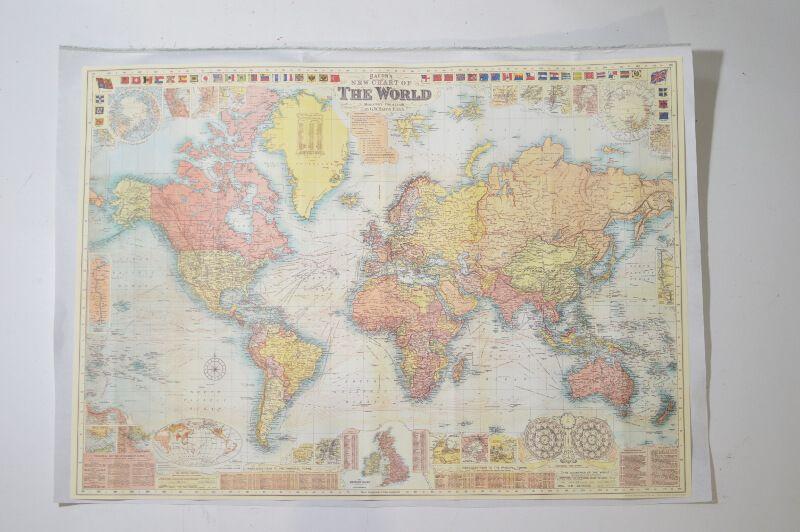 Mapa sobre tela