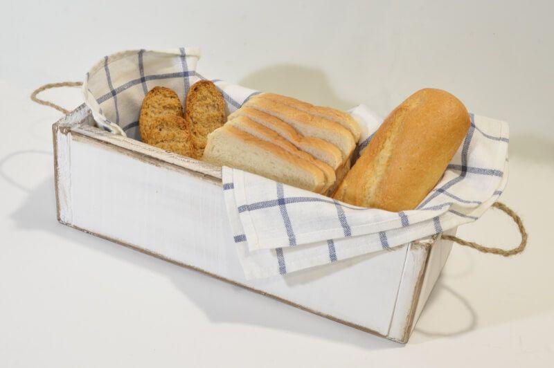 cajon rústico para el pan