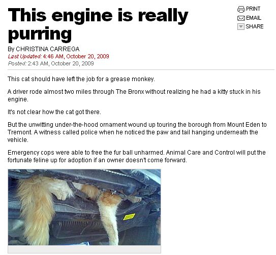 engine purring