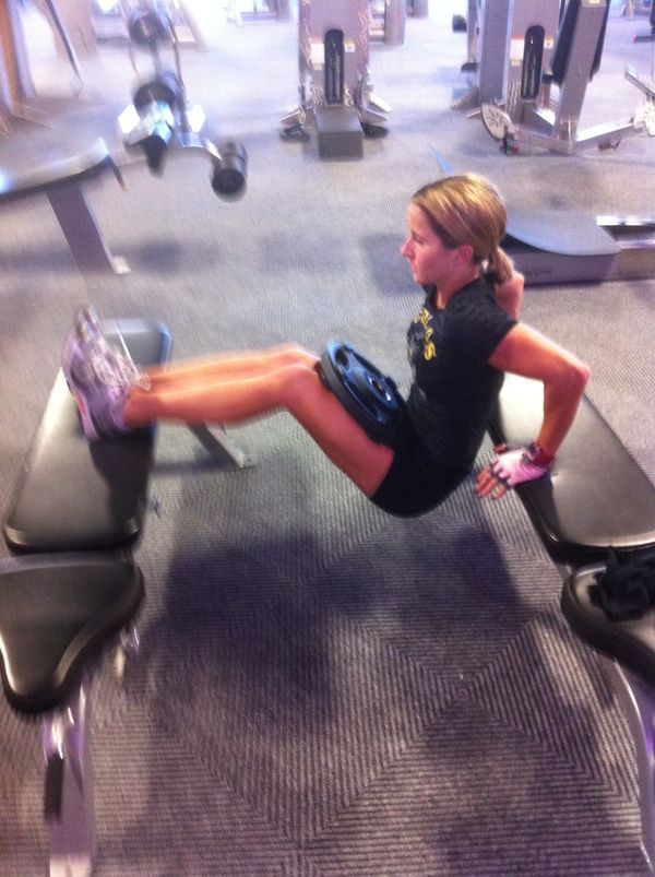 Monday Move Weighted Two Bench Triceps Dip Badass Fitness