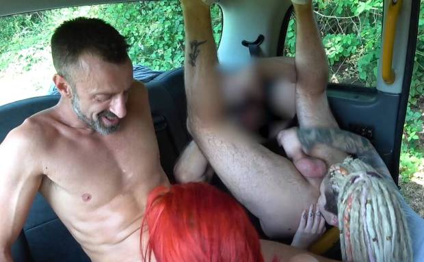 A Cab Full Of Fucking And Rimming