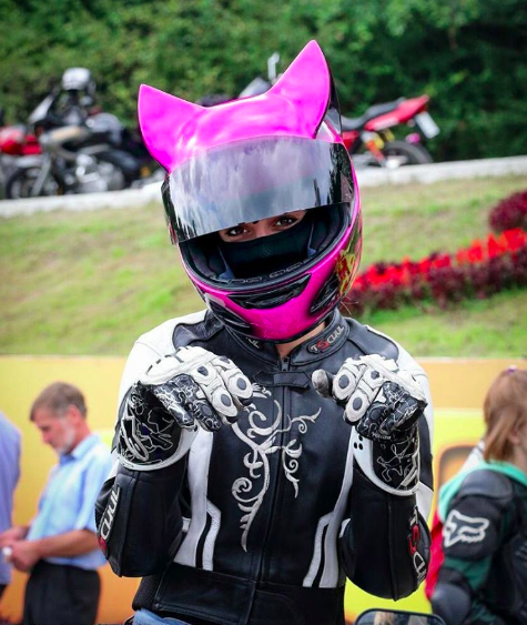 Anime Girl With Cat Ears Wallpaper Red And Black Cat Ear Motorcycle Helmets