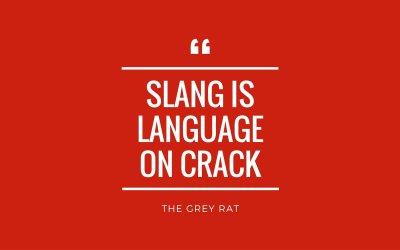 Slang sayings from The Grey Rat