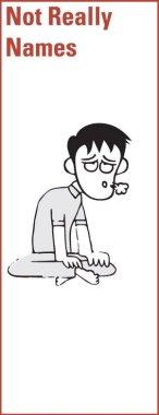 caricature of man saying whew