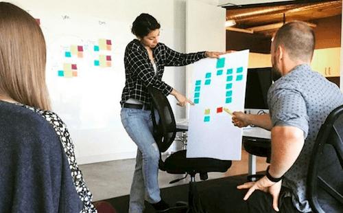 An impromptu designer-facilitated working session