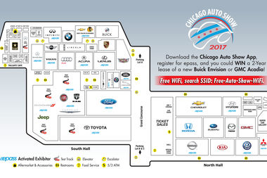 A map of the auto show.