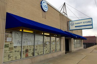 The St. Vincent de Paul Thrift Store at 9321 S. Western Ave. in Beverly has closed. A look inside the building Tuesday revealed that all of the inventory had been cleared out.