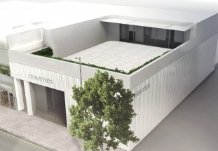 A rendering of the new Christie's center in Beverly Hills.
