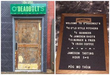 Deadbolt, 2412 N. Milwaukee Ave., transformed into O'Deadbolt's for the holiday.
