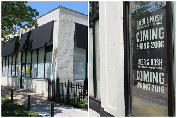 The opening of Baker & Nosh's two planned storefronts appear to be on hold.
