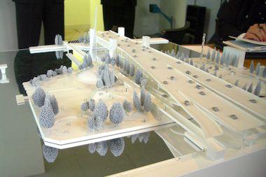 A model of the new DuSable Park designed by Santiago Calatrava.