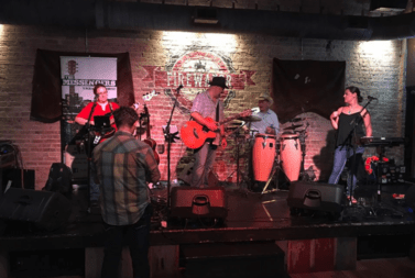A band plays in this file photo from Firewater Saloon.