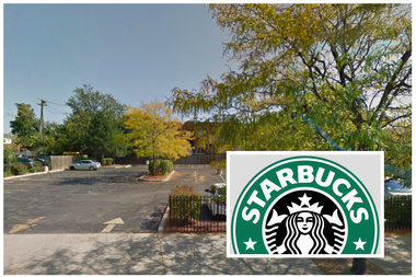 The drive-thru Starbucks—set to include a patio with outdoor seating — would be built at Cicero and Berteau.