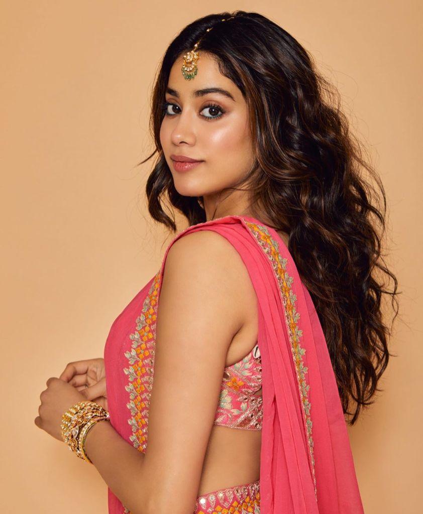 Janhvi Kapoor in Pink saree |Saree Designs Part-3|Photo Gallery | Badbola