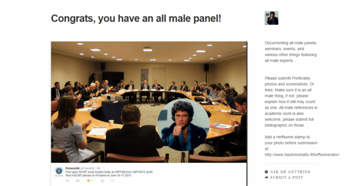 congrats you have an all male panel
