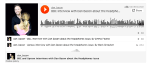 dan bacon interview with bbc headphones issue