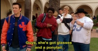 glasses and pontytail not another teen movie