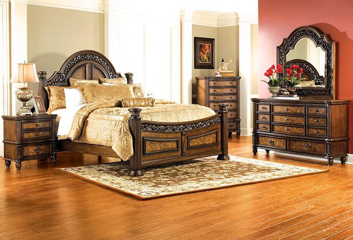 Buy Verona Pecan 5 Pc Queen Bedroom Part Badcock More