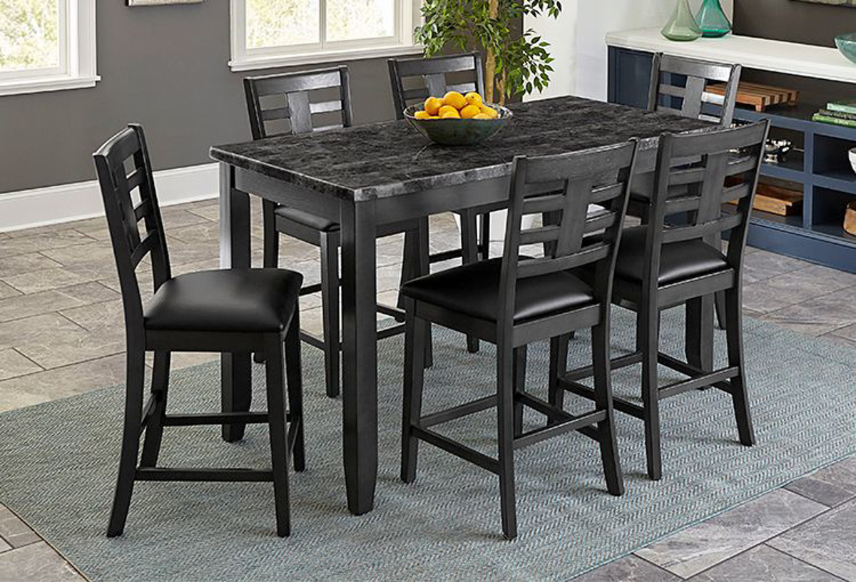 Buy Canaan Grey 5 Pc Counter Height Dining Room Part 10276 Badcock More