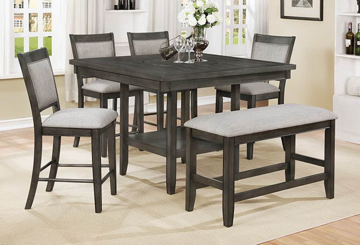 Updating your space by adding a new set of dining chairs is an easy way to reinvigorate the look of the room and help your family and guests stay more comfortable in the process. Buy Fulton Gray 6 PC Counter Height Dining Room - Part ...