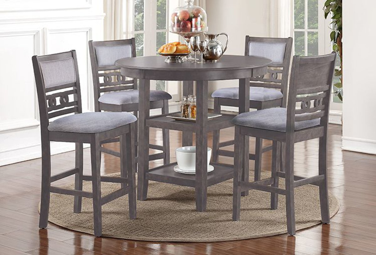 Buy Gia Grey 5 Pc Counter Height Dining Room Part D1701 52s Gry Badcock More