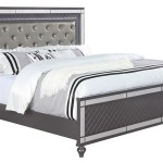 Buy Refino Grey King 3 Pc Bed With Led Lights Part B1670 Badcock More