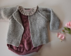 Little evelyns og rillecardigan