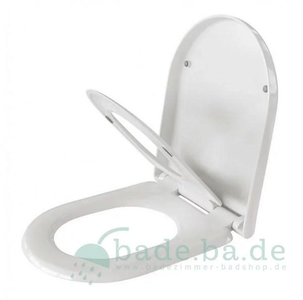 WC Sitz mit Kindersitz Absenkautomatik und D-Form / Soft-Close für Nexo ROCA - WC Sitz Shop