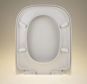 WC Sitz mit Absenkautomatik / Soft Close und Eckig Form - WC Sitz Shop