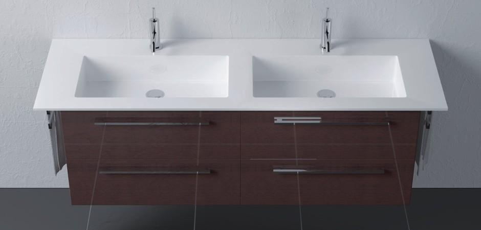 Waschbecken Eingelassen   Waschtisch Aus Corian Und Eiche   Referenzen   Hammer