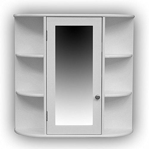 1PLUS Landhaus Badezimmerschrank hngend mit Spiegel